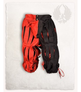 Pantalone Mercenario Lansquenete, rosso, nero