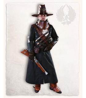 Mantello medievale Kandor, nero