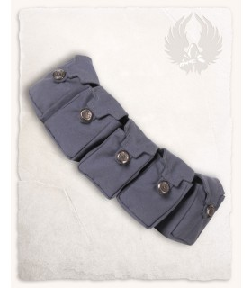 Cintura medievale con 5 tasche