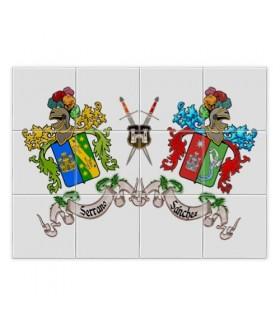 Tessere di mosaico di Scudi 2 nome cognome (senza sfondo)