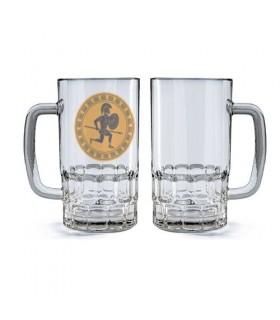 Boccale di birra in Vetro Guerriero Hoplita Griego