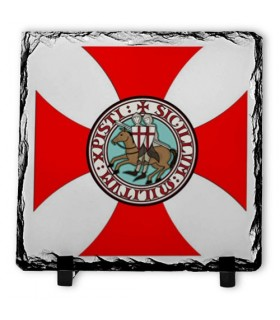 Scudo Cavalieri Templari su Pietra Ardesia (20x20 cm.)