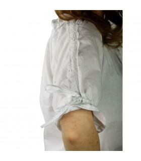 Blusa medievale cravatte bianche
