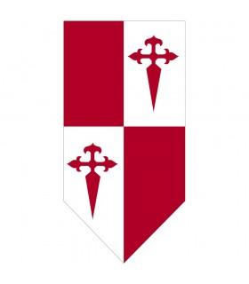 Stendardo medievale Cuartelado Cruz de Santiago