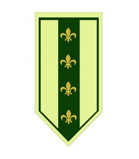 Banner Medievale Verde fleur-de-Lis