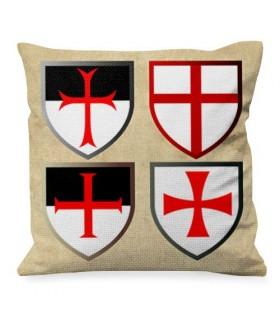 Cuscino con Croci Templari