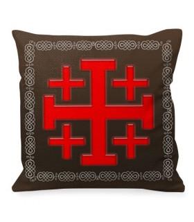 Cuscino Croce di Gerusalemme Cavalieri Templari