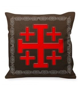 Cuscino da tiro dei Cavalieri Templari della Croce di Gerusalemme