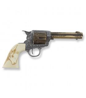 Revolver Colt 45 Pacificatore manopole buffalo, 27 cms.