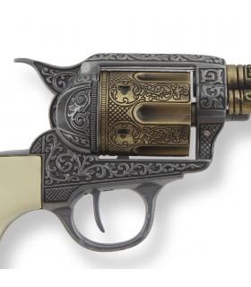 Revolver Colt 45 Pacificatore a manico lungo, buffalo, 27 cms.