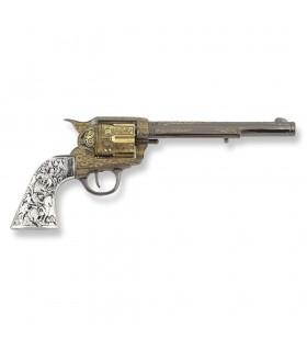 Revolver Colt 45 Pacificatore a manico lungo, metallo, 27 cm.