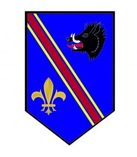 Banner Medievale di Cinghiale con fleur-de-lis