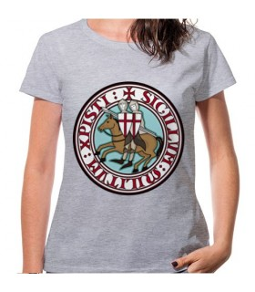 T-shirt Donna Grigio Cavalieri Templari, manica corta