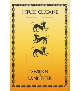 Banner Game of Thrones Casa Clegane (75x115 cm.)