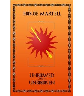 Banner Game of Thrones, la Casa Martell (75x115 cm.)