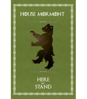 Banner Game of Thrones Casa Mormont (75x115 cm.)