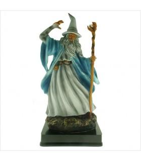 Miniatura Mago Merlino casting incantesimo, 25 cm.