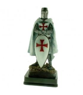 Miniatura Cavaliere Templare con Scudo, 23 cms.