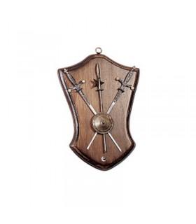 Panoplia la spada, lo scudo e la sella