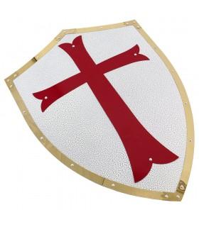 Scudo Templare bordi d'oro
