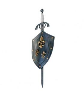 Scudo Fiore del Lys con la spada