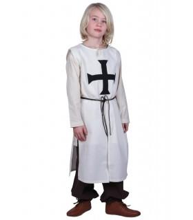 Tabard bambino Teutonico, naturale, bianco