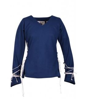 Blusa medievale Aila, blu