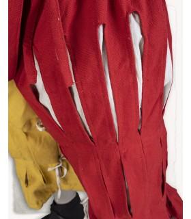 Pantalone Mercenario Lansquenete, rosso-giallo
