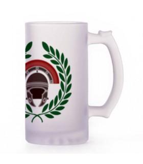 Boccale di birra Centurione Romano, di cristallo traslucido