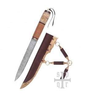 Coltello Viking, Acciaio Damasco