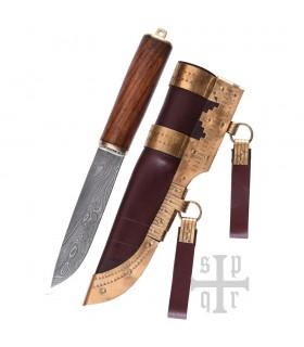 Coltello Viking Seax Damasco