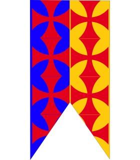 Standard Medievale Bicolore Croci