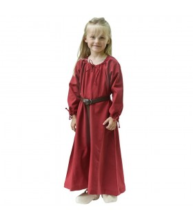 Abito viking rosso Ana, ragazza