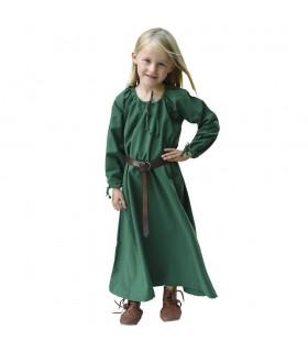 Abito viking verde Ana, ragazza