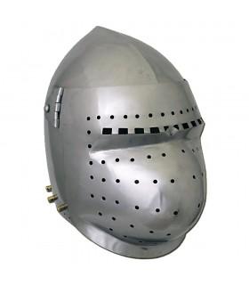 Bacinete Pronta alla Battaglia, con pre-curvi in acciaio di 2 mm.
