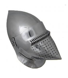 Bacinete Houndskull Pronta alla Battaglia, in acciaio di 2 mm.