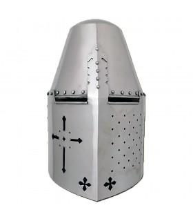 Casco Templari e rivetti, in acciaio da 1,6 mm