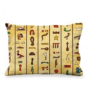 Cuscino Rettangolare Geroglifici Egiziani