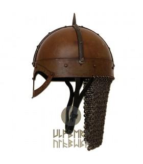 Casco, Viking Gjermundbu con cotta di maglia, Pronta alla Battaglia