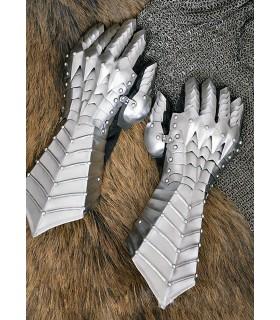 Guanti medievale articolata, in acciaio 1,3 mm
