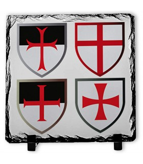 Incroci Cavalieri Templari, Pietra e Ardesia (20x20 cm.)