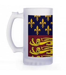 Boccale di birra Medievale, cristallo traslucido