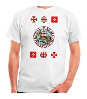 T-shirt Cavalieri Templari croce, manica corta