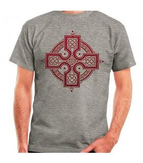 T-shirt Grigio Croce Celtica, manica corta
