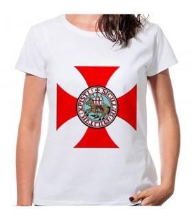 T-shirt Croce Templare Donna manica corta vari colori