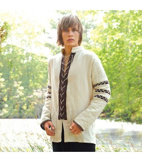 Camicia Nordic imbottito, color crema
