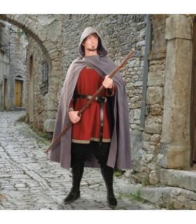 Mantello medievale con cappuccio