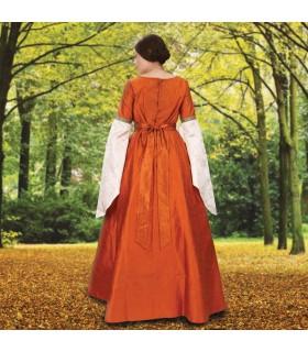 Abito medievale Signora Scalogno