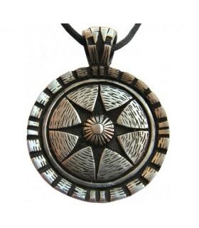 Ciondolo scudo Celtico star di vita