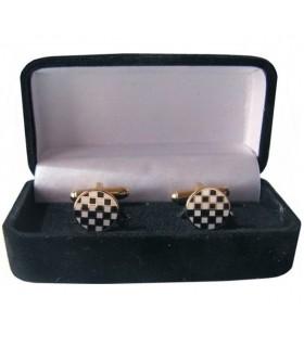 Gemelli Massonici Mosaico di Ciottoli di scatola di gioielli